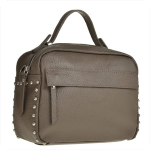 Brązowa torebka Borse in Pelle w stylu casual ze skóry