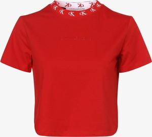 Czerwony t-shirt Calvin Klein z krótkim rękawem