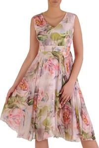 Sukienka POLSKA midi z szyfonu