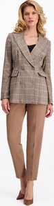 Brązowe spodnie Lavard z tkaniny