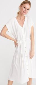 Sukienka Reserved midi z krótkim rękawem
