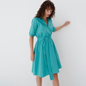 Turkusowa sukienka Mohito w stylu casual