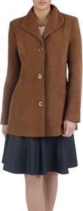Brązowy płaszcz POLSKA z wełny