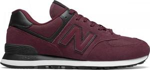 Czerwone buty sportowe New Balance sznurowane 574