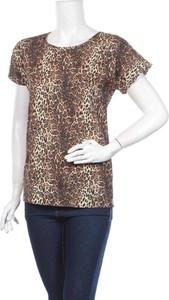 Brązowa bluzka Rita Koss z krótkim rękawem z okrągłym dekoltem