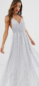 Niebieska sukienka Asos Design na ramiączkach