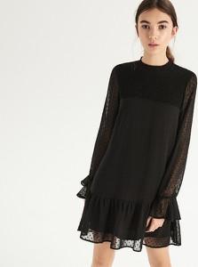 Sukienka Sinsay oversize z długim rękawem midi