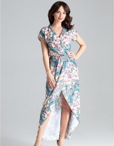 Sukienka LENITIF z krótkim rękawem midi