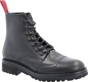 Buty zimowe Hugo Boss sznurowane