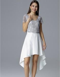 Sukienka Figl asymetryczna z krótkim rękawem mini