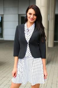Marynarka butik-choice.pl krótka na guziki