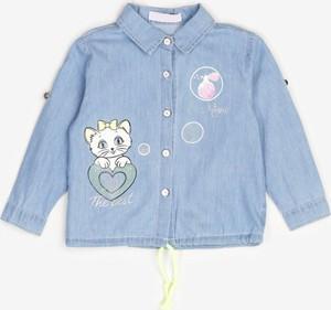Niebieska koszula dziecięca born2be z bawełny