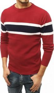Czerwony sweter Dstreet z dzianiny