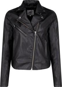 Czarna kurtka Pepe Jeans krótka w rockowym stylu
