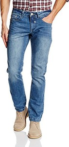 Niebieskie jeansy The Indian Face w stylu casual z jeansu