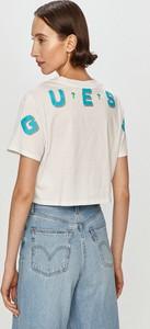 Bluzka Guess z dzianiny z okrągłym dekoltem