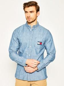 Koszula Tommy Jeans z kołnierzykiem button down z długim rękawem