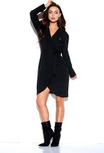 Czarna sukienka Lemoniade w stylu casual z długim rękawem