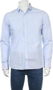 Niebieska koszula Hackett w stylu casual z klasycznym kołnierzykiem