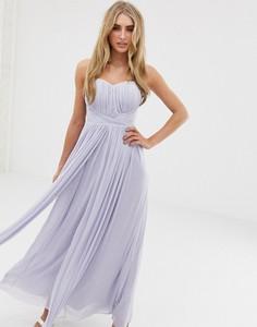 Niebieska sukienka Lipsy z szyfonu na ramiączkach maxi