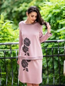 Różowa bluzka POTIS & VERSO z dzianiny w stylu casual