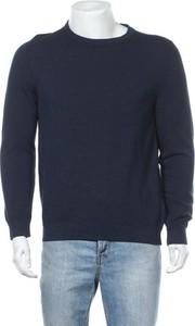 Niebieski sweter Marc O'Polo w stylu casual z okrągłym dekoltem