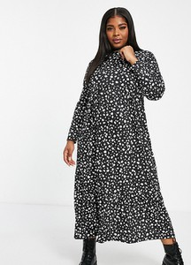 Sukienka Street Collective Curve z długim rękawem z dżerseju midi