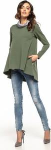Zielona tunika Tessita z długim rękawem z bawełny