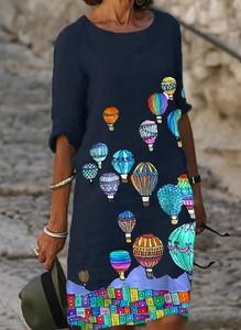 Sukienka Cikelly z długim rękawem prosta w stylu casual