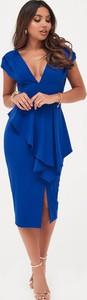 Sukienka Lavish Alice z krótkim rękawem z dekoltem w kształcie litery v