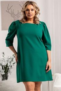 Zielona sukienka KARKO trapezowa z długim rękawem