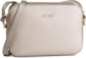 Złota torebka Liu-Jo średnia lakierowana