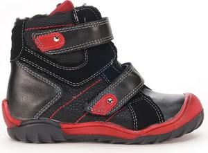 Czarne buty dziecięce zimowe Kornecki na rzepy