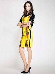 Żółta sukienka potis & verso mini