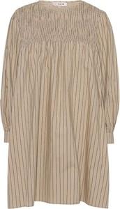 Sukienka A-view mini z okrągłym dekoltem z długim rękawem