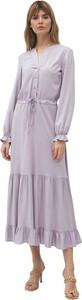Sukienka Nife z dekoltem w kształcie litery v maxi