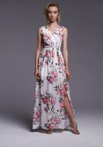 Sukienka Ella Boutique z szyfonu bez rękawów