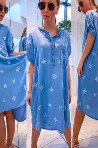 Sukienka Shopaholics Dream z jeansu