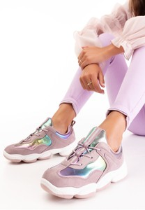 Buty sportowe born2be z płaską podeszwą sznurowane