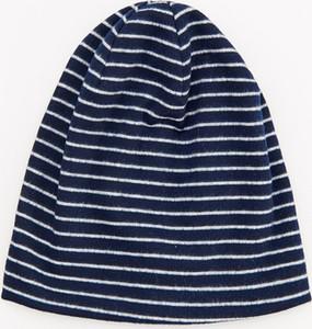 Granatowa czapka Reserved w paseczki