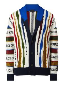 Sweter Carlo Colucci w młodzieżowym stylu z wełny