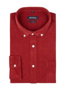 Czerwona koszula McNeal z bawełny z długim rękawem z kołnierzykiem button down