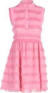 Różowa sukienka Love Moschino bez rękawów mini