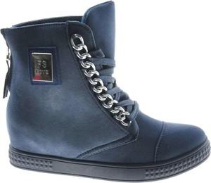 Buty sportowe producent niezdefiniowany sznurowane ze skóry ekologicznej