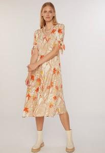 Sukienka FEMESTAGE Eva Minge z okrągłym dekoltem midi z tkaniny