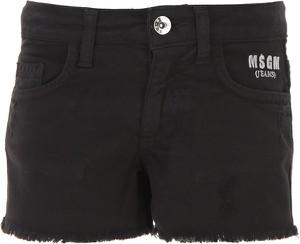 Czarne spodenki dziecięce MSGM z bawełny