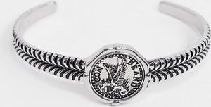 Icon Brand – Metalowa bransoletka w kolorze srebrnym z motywem orła