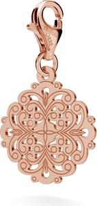 GIORRE SREBRNY CHARMS ROZETA GOTYCKA 925 : Kolor pokrycia srebra - Pokrycie Różowym 18K Złotem