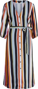 Sukienka Set z dekoltem w kształcie litery v z długim rękawem koszulowa