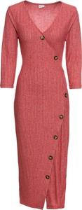 Czerwona sukienka bonprix BODYFLIRT midi